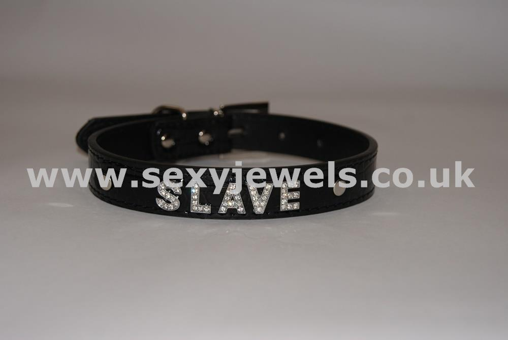 Black Fetish `SLAVE` Collar For Pet / Slave