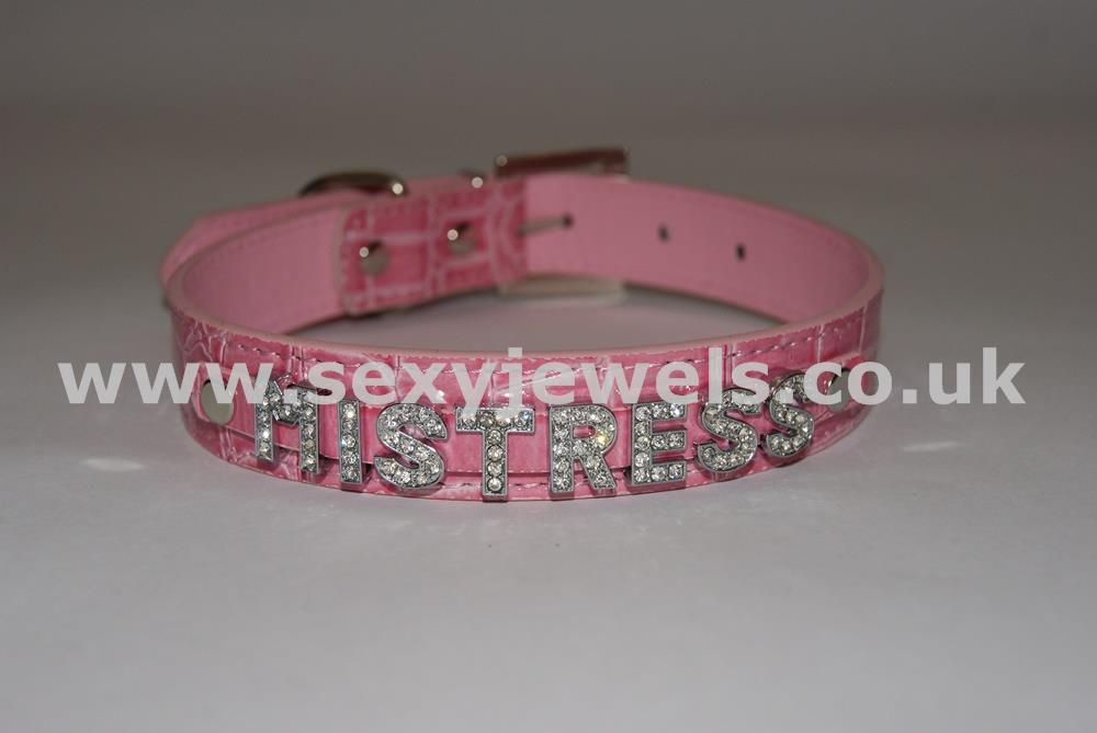 Pink Fetish `MISTRESS` Collar For Pet / Slave