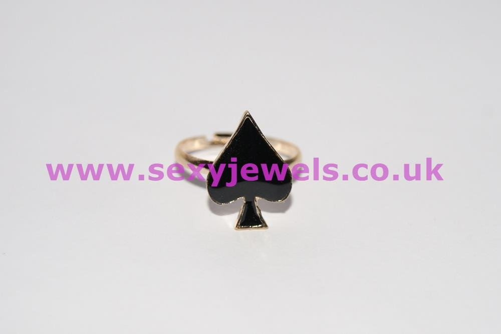 Spade Ring / Toe Ring for Hotwife / Queen Of Spades
