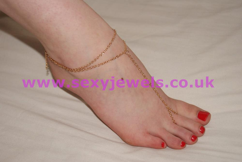 Gold Colour Foot Thong Chain