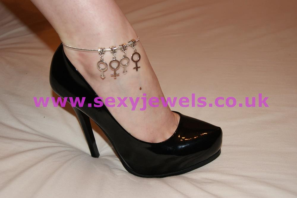 Euro Anklet / Ankle Chain `MFMF` Symbols