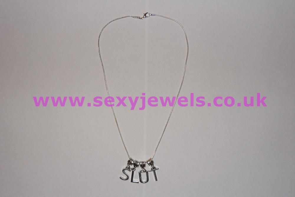 Euro Necklace `SLUT` for Swingers, Hotwife and Cheating Wives