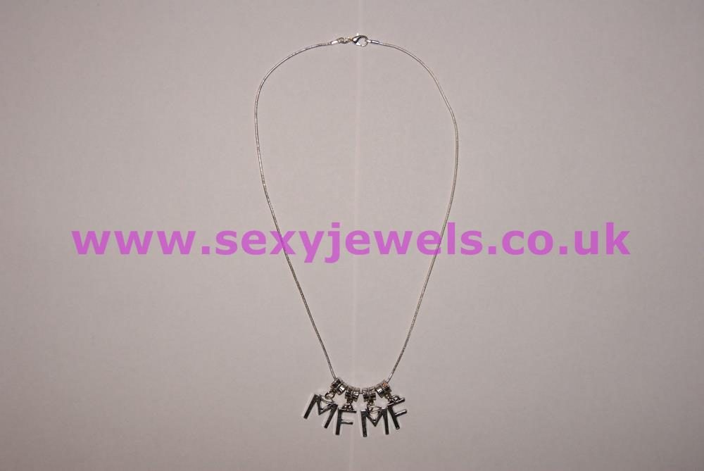 Euro Necklace `MFMF` Letters Moresome Swinger Gangbang