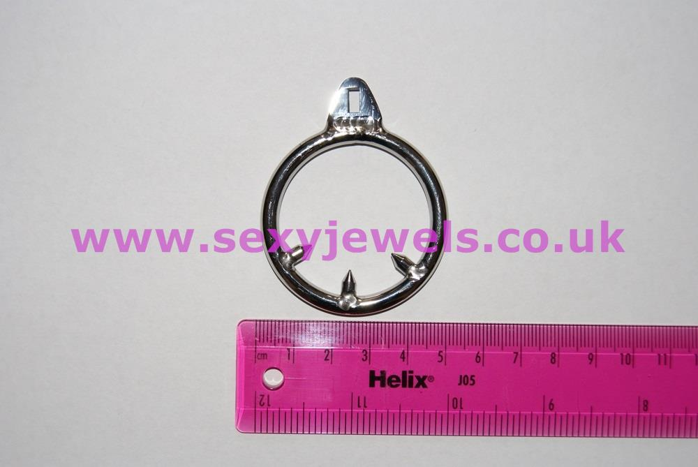 Spiked Cock Ring Can Be Used With Metal Chastity Devices