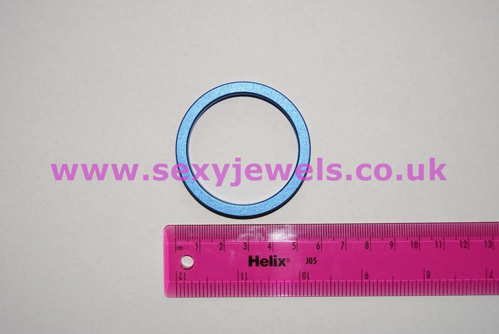 Lightweight Aluminium Cock Ring - Blue