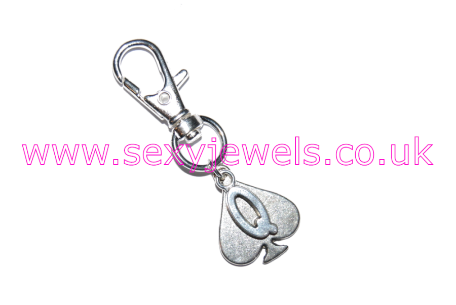 Queen Of Spades Hotwife Metal Keyring Style 3