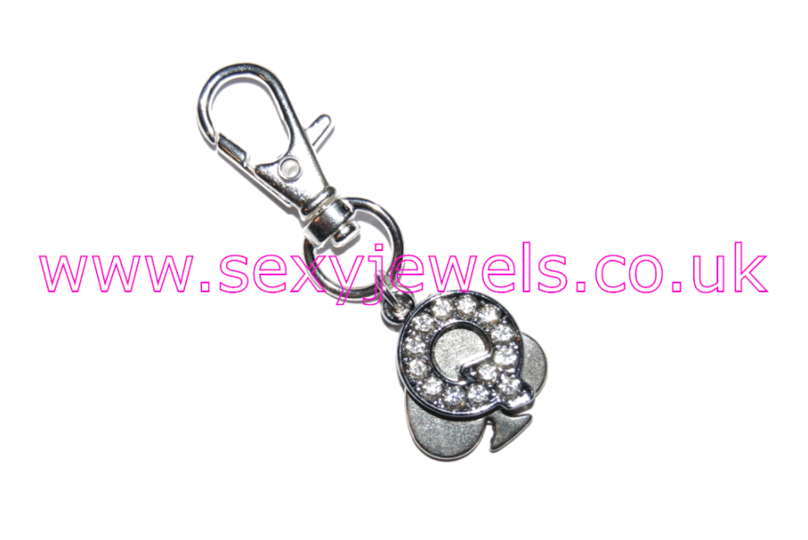 Queen Of Spades Hotwife Metal Keyring Style 4