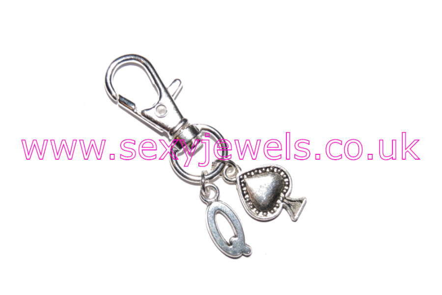 Queen Of Spades Hotwife Metal Keyring Style 5