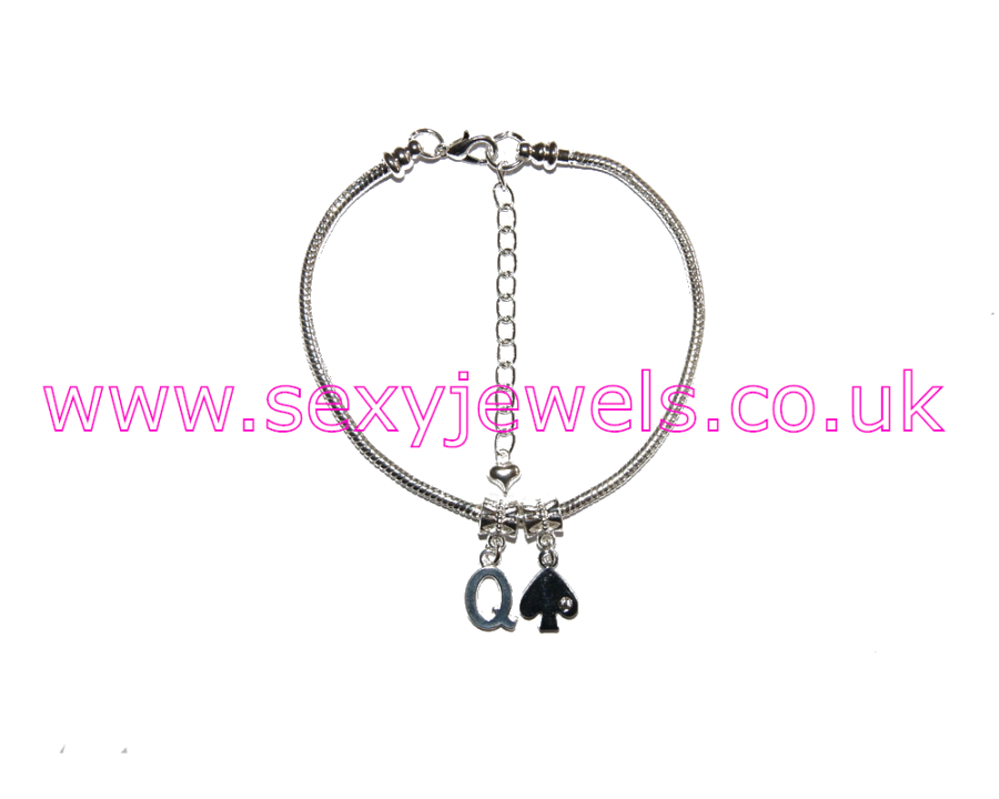 Euro Anklet / Ankle Chain Queen Of Spades QOS Style 1