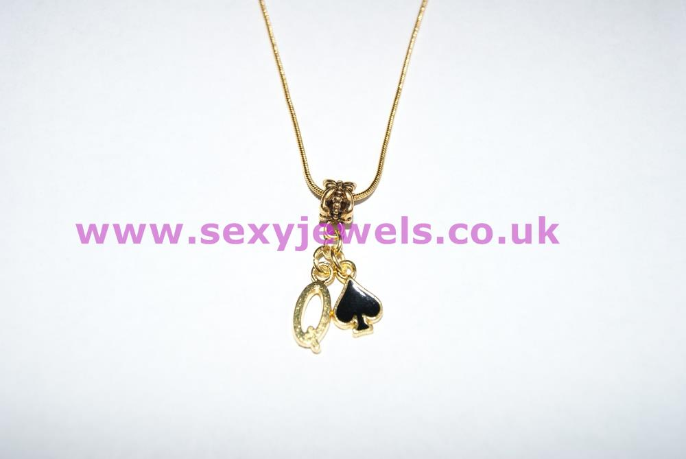 Euro Necklace QOS (Queen Of Spades) Gold Style 1