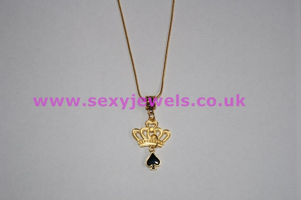 Euro Necklace QOS (Queen Of Spades) Gold Style 3