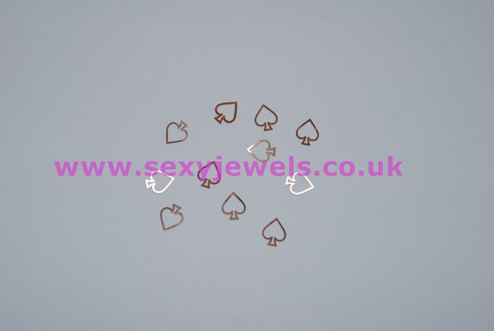 Bronze / Copper Colour Spade Nail Art Foils Queen Of Spades Hotwife