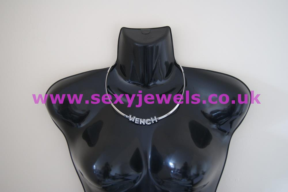 Solid `WENCH` Neck Band Necklace Collar for Hotwife