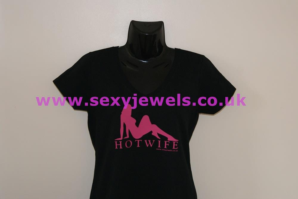 Hotwife T Shirt Clothing Cuckold Sexy Black