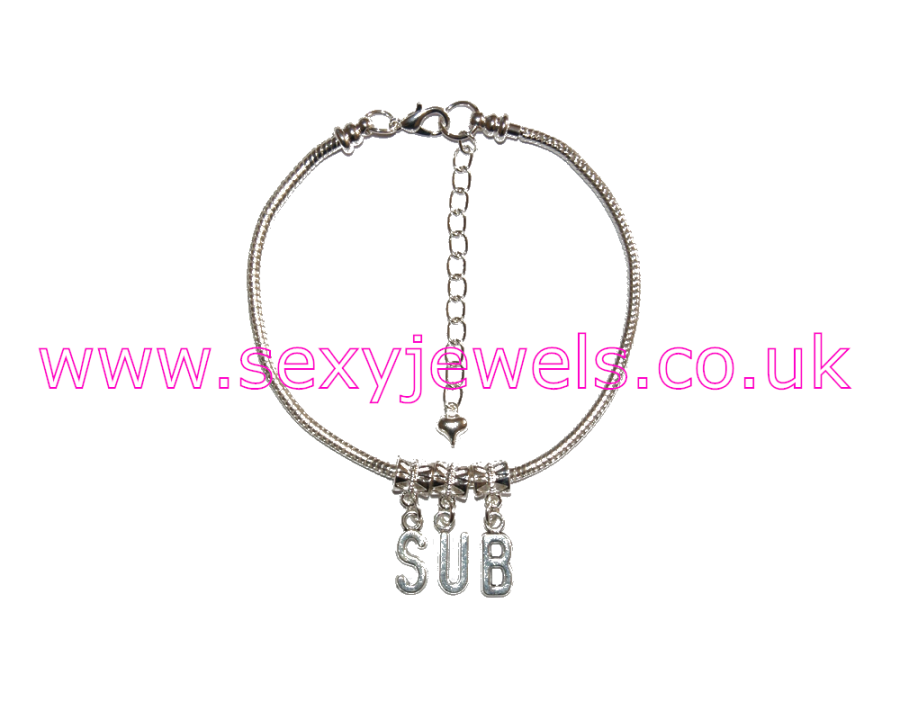 Euro Anklet / Ankle Chain `SUB` Submissive