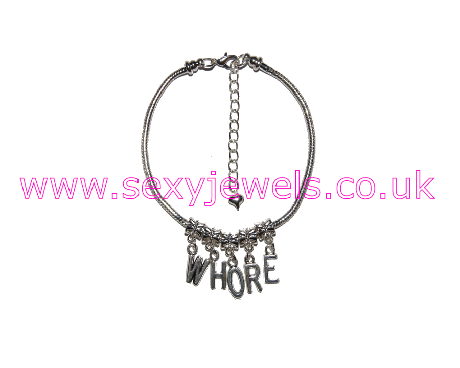 Euro Anklet / Ankle Chain `WHORE`