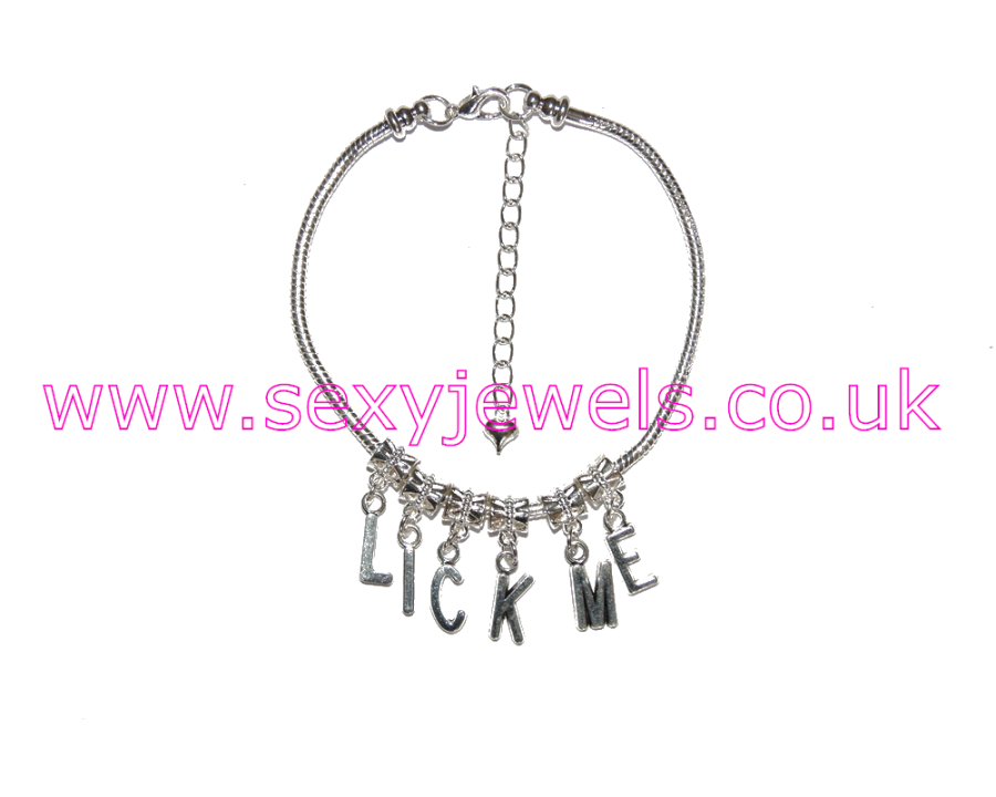 Euro Anklet / Ankle Chain `LICK ME`