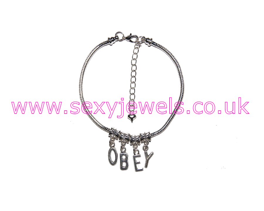 Euro Anklet / Ankle Chain `OBEY` Mistress Femdom