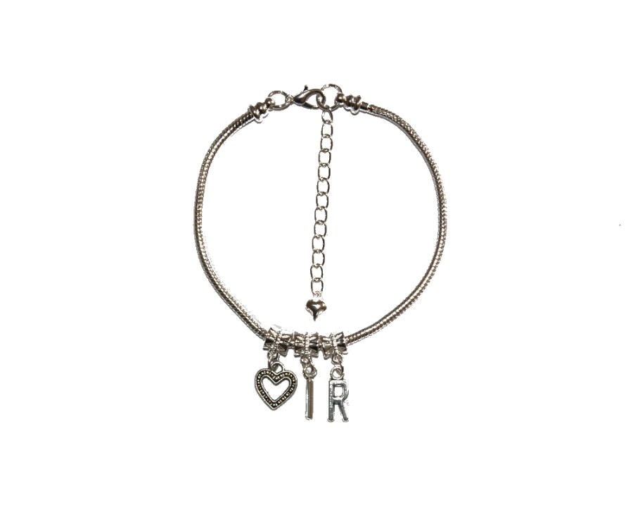 Euro Anklet / Ankle Chain `<3 IR` (LL) Love Interracial