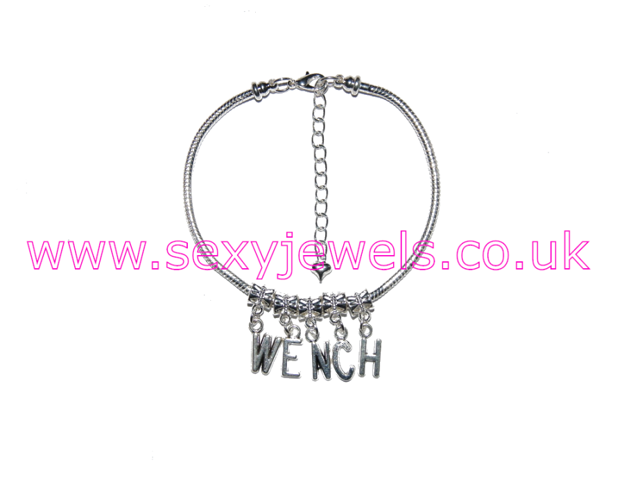 Euro Anklet / Ankle Chain `WENCH` Slave Maid Servant