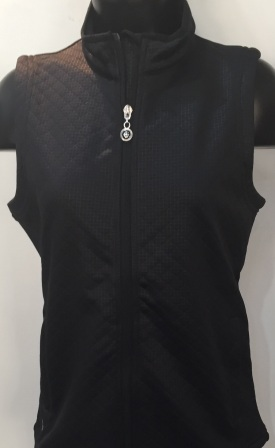 Island Green Full Zip Quilted Gilet - Black