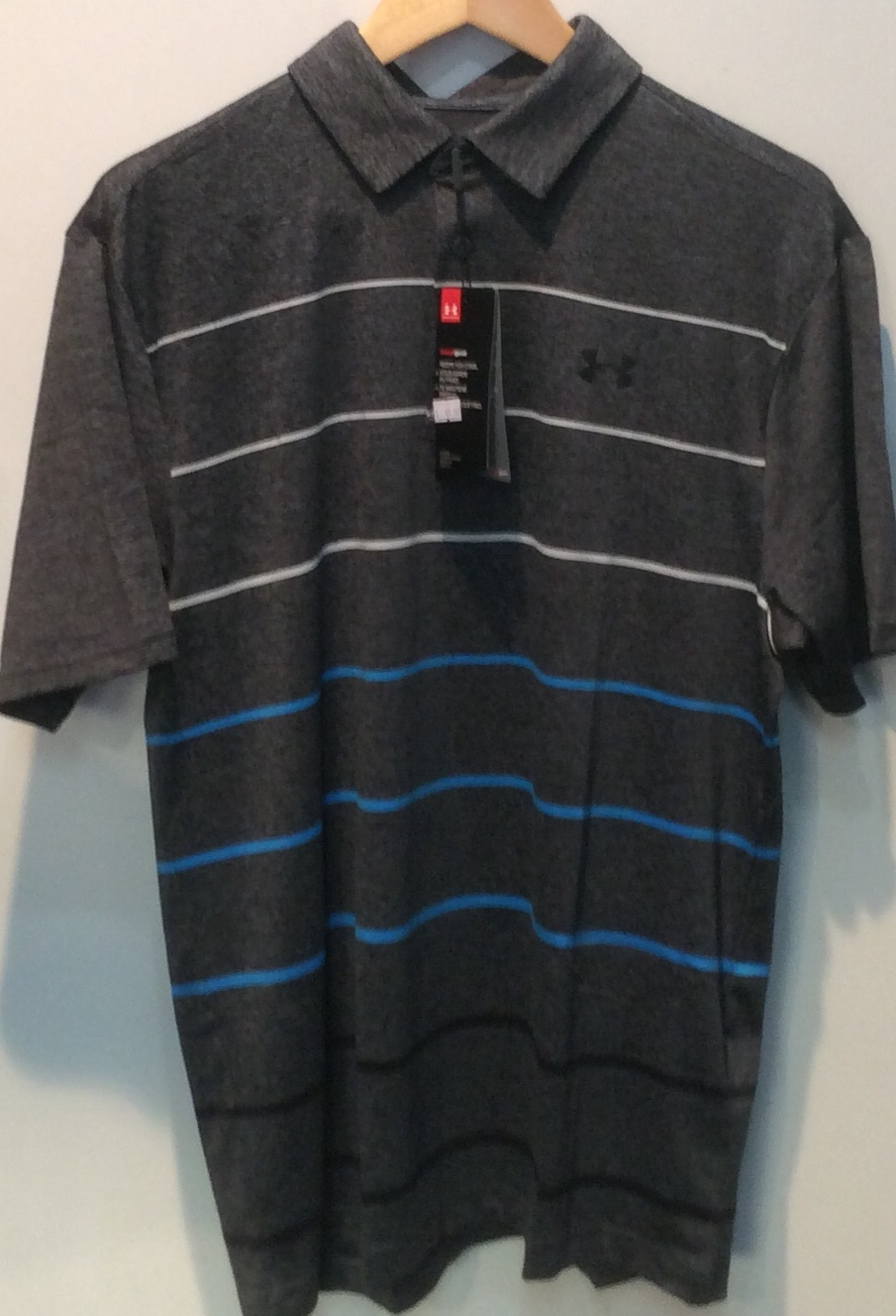 UA Playoff Polo  - Grey Stripe