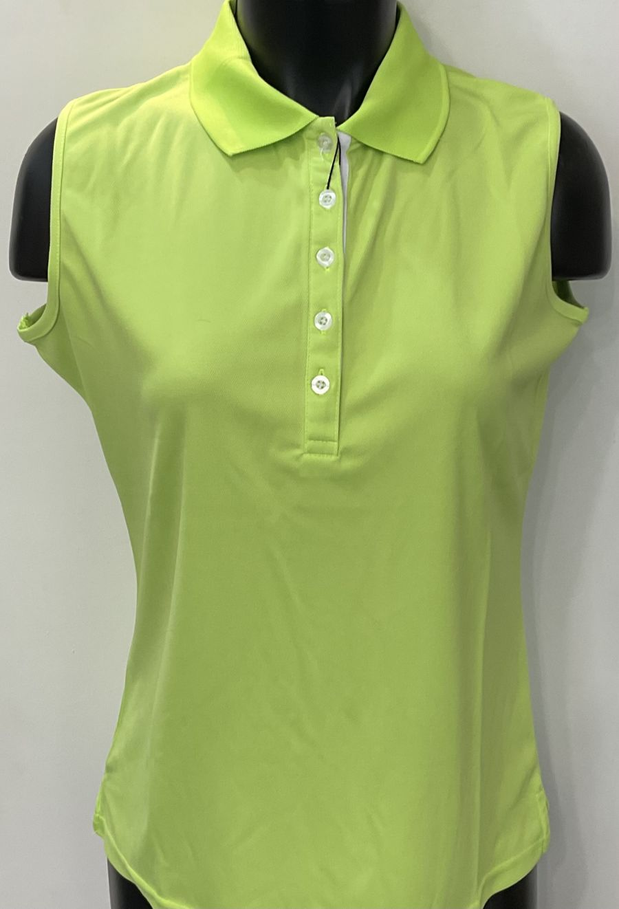JRB Sleeveless polo - Lime