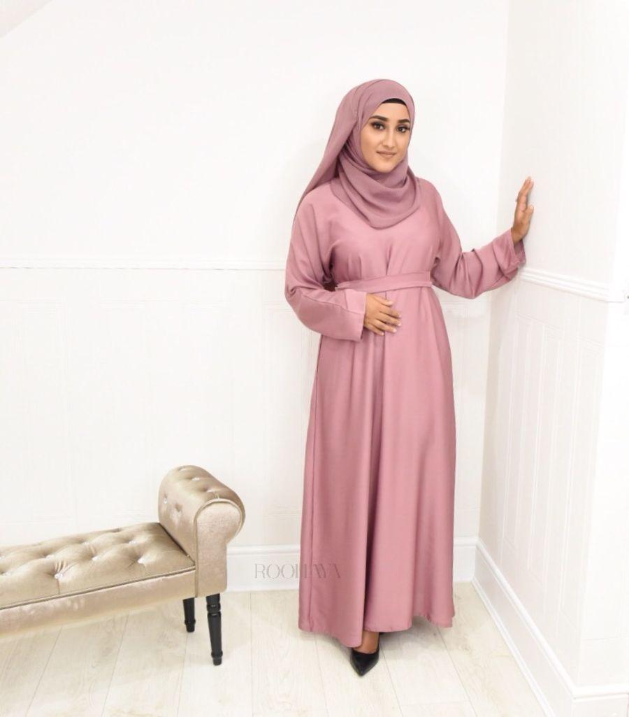 Aisha Inner Abaya Dusky Pink