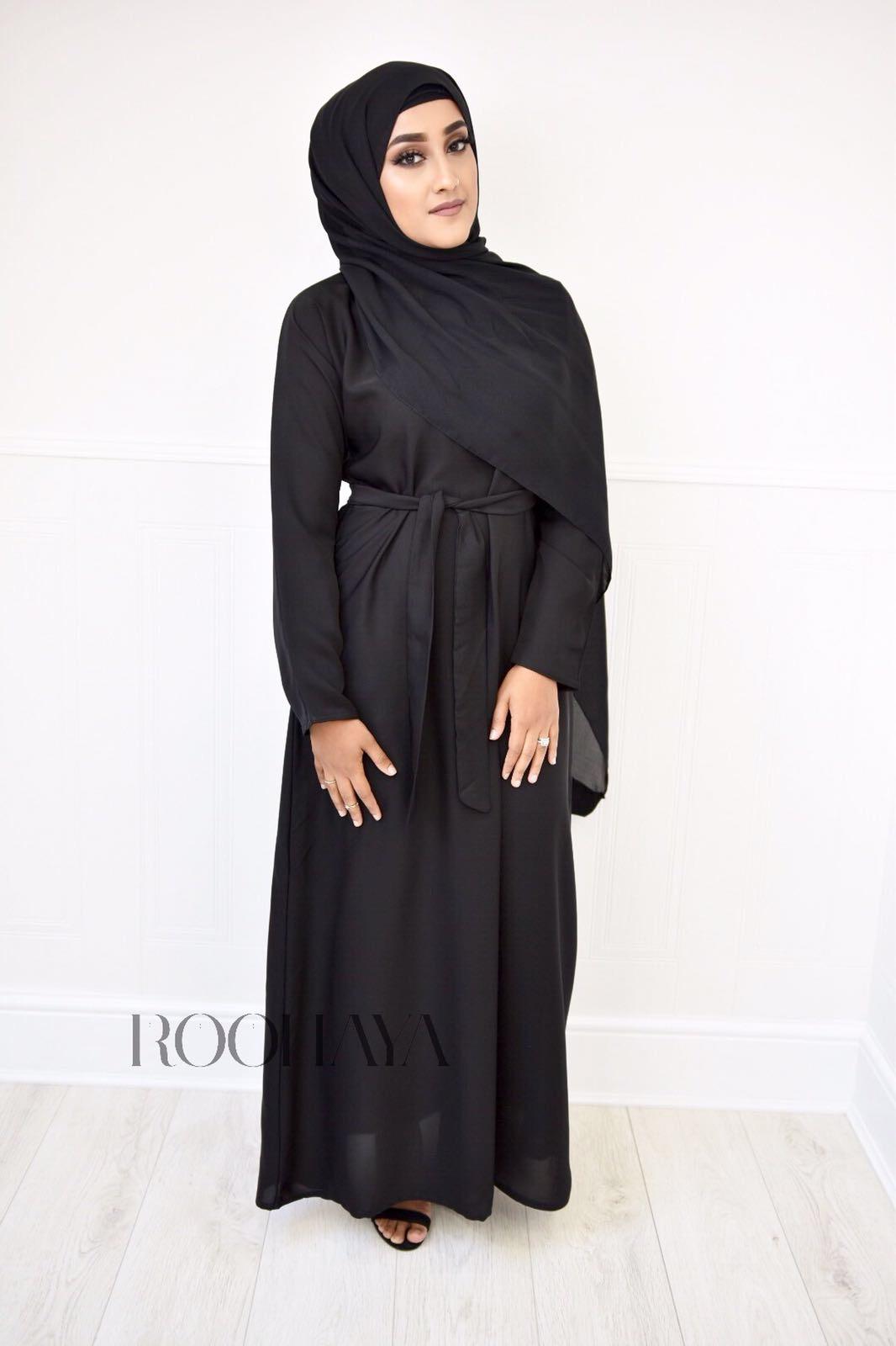 Aisha Inner Abaya Black