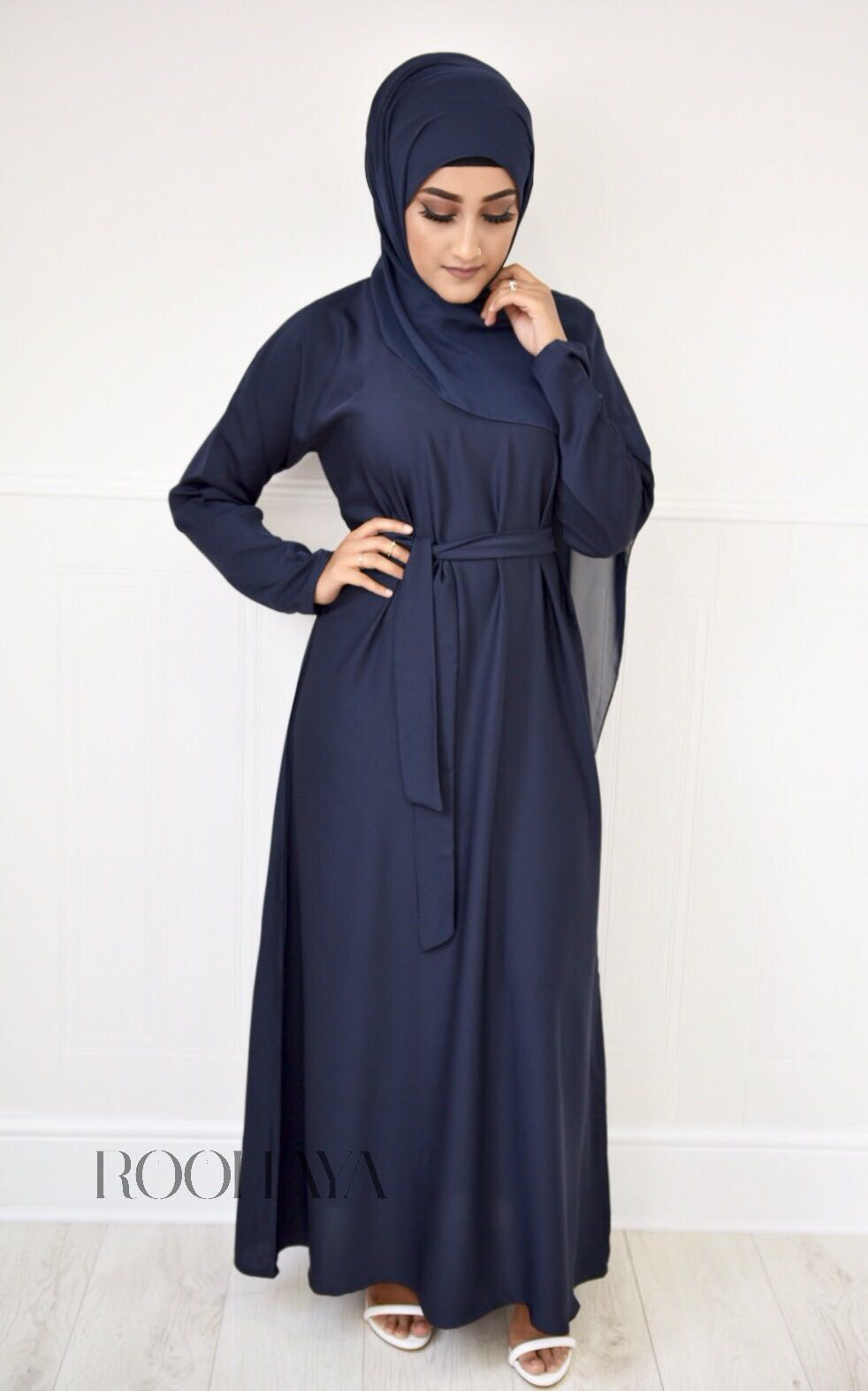 Aisha Inner Abaya Navy