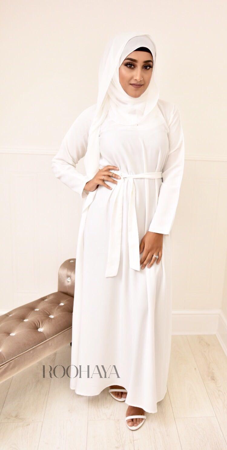 Aisha Inner Abaya White