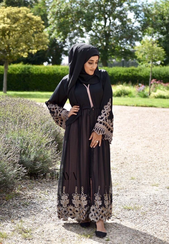 Syrah double layered chiffon abaya