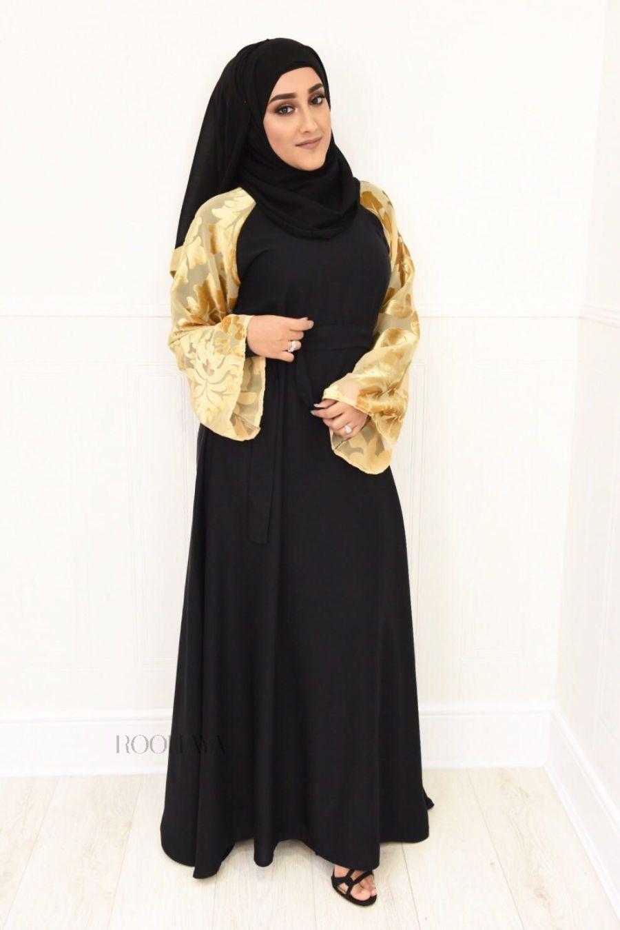 Djamila flare Black Gold Velvet