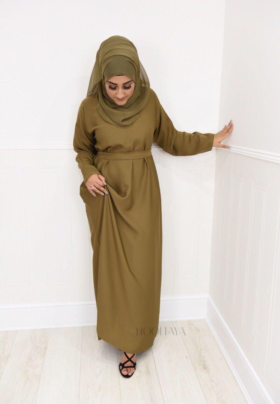 Aisha Inner Abaya Camel Brown