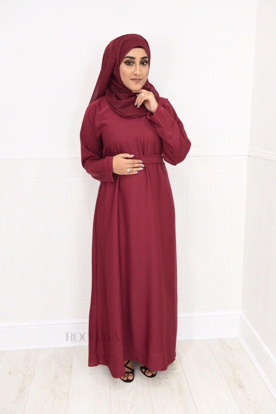 Aisha Inner Abaya Maroon
