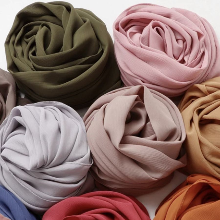 Crinkle Chiffon Hijab Scarf
