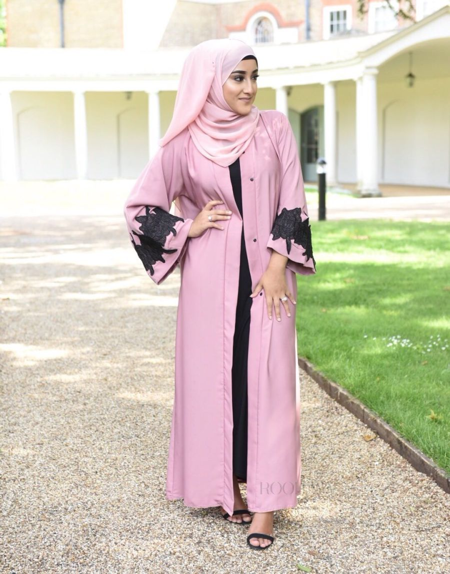 Fiza Rose Mesh Lace in Dusky Pink