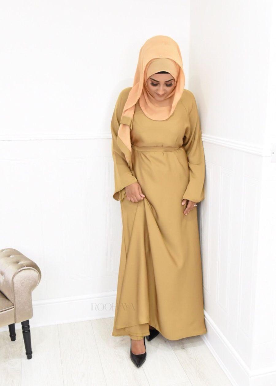 Djamila flare Golden beige