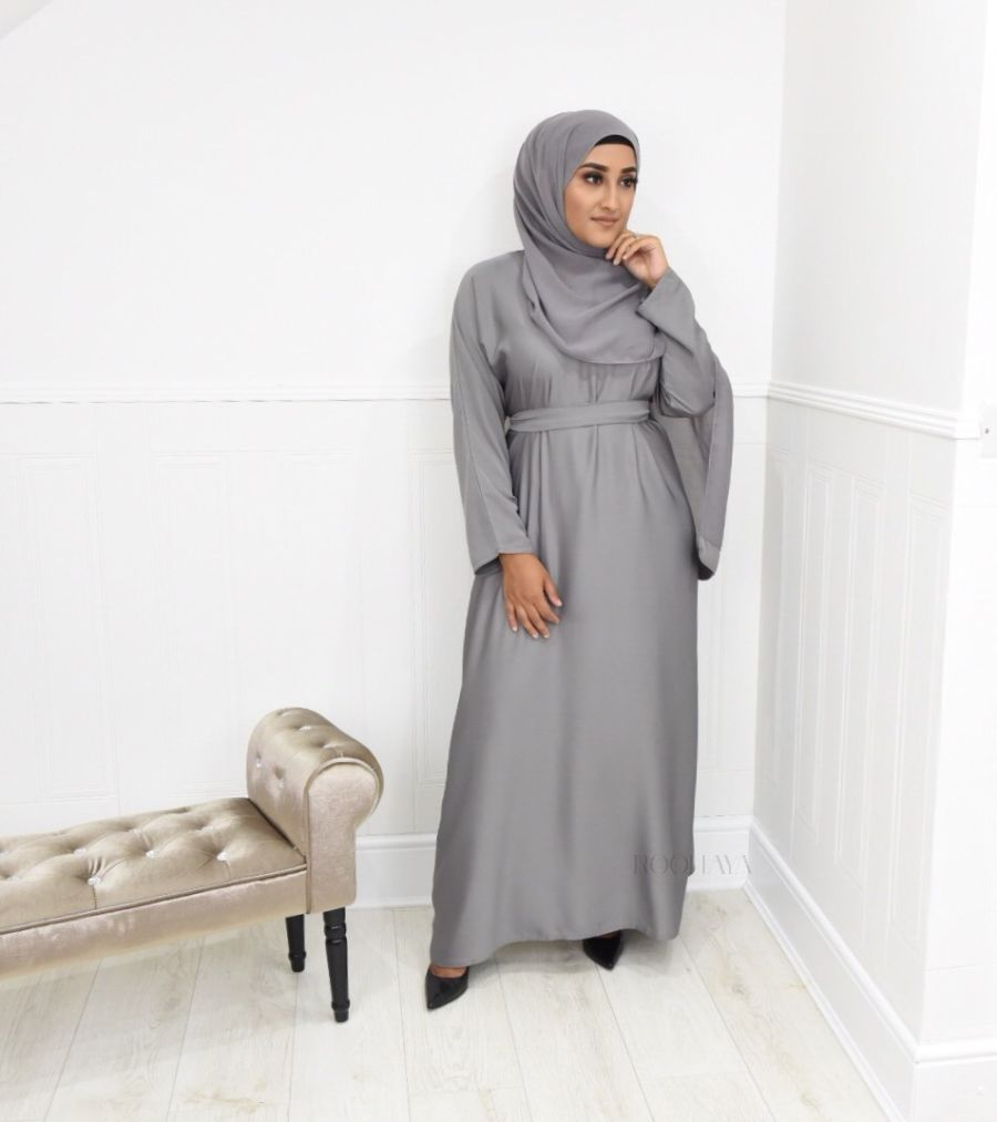 Aisha Inner Abaya Light Grey