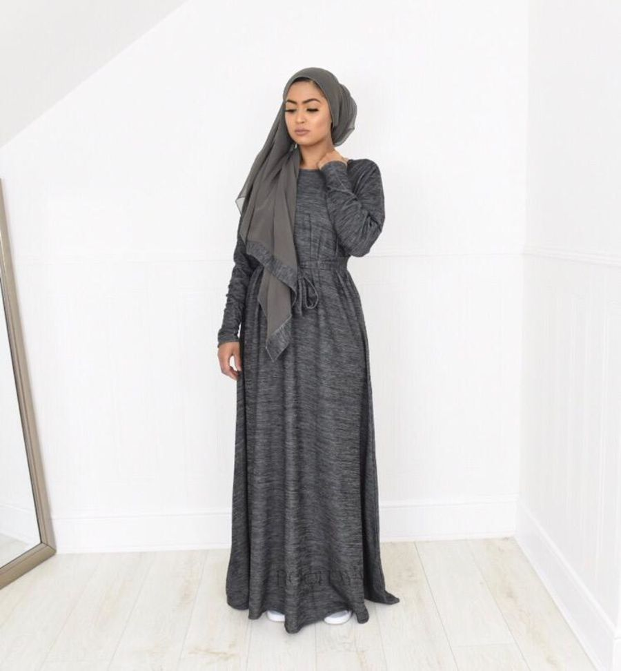 Djamila Winter flare Dark Grey Marl
