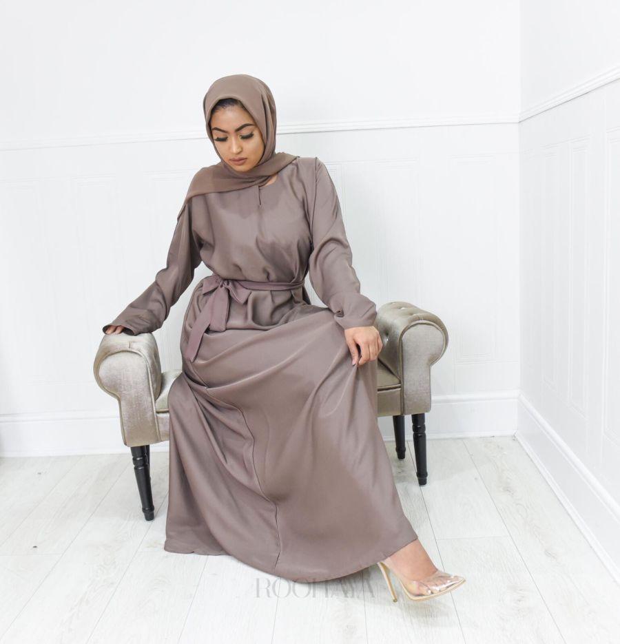 Aisha Inner Abaya Vintage Blush