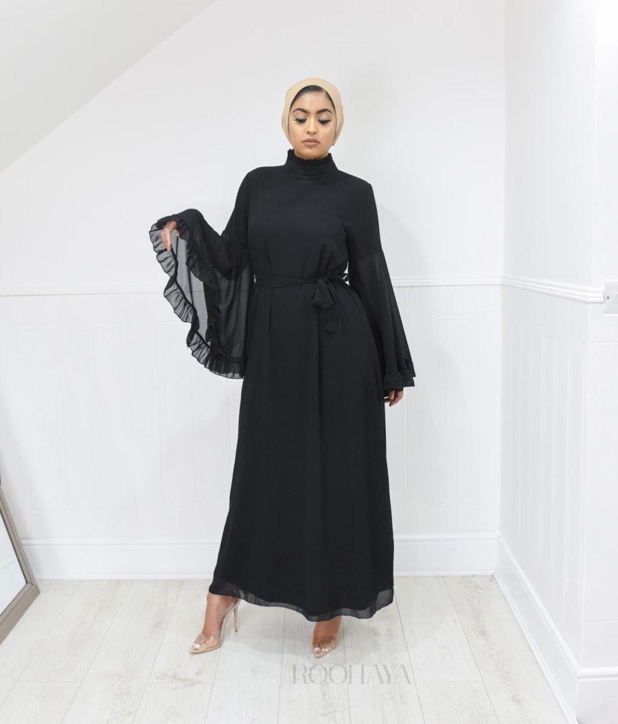 Flora Dress Black