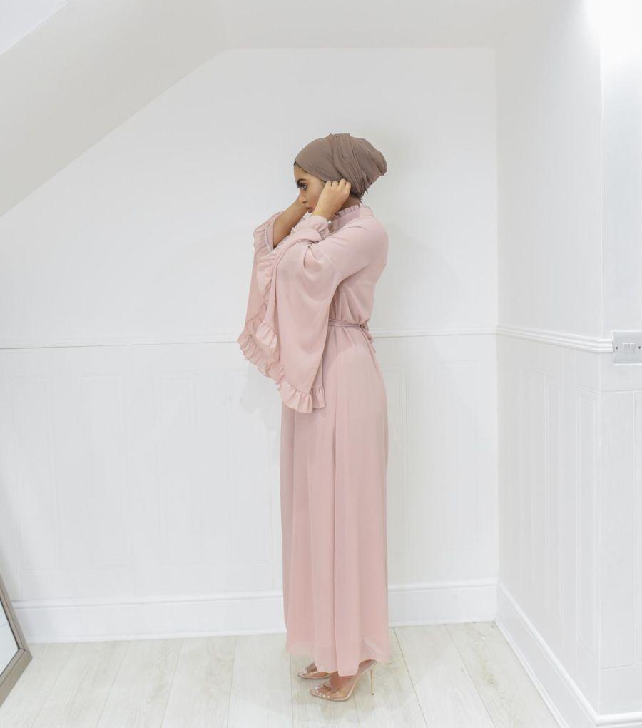 Flora Dress Crepe Pink