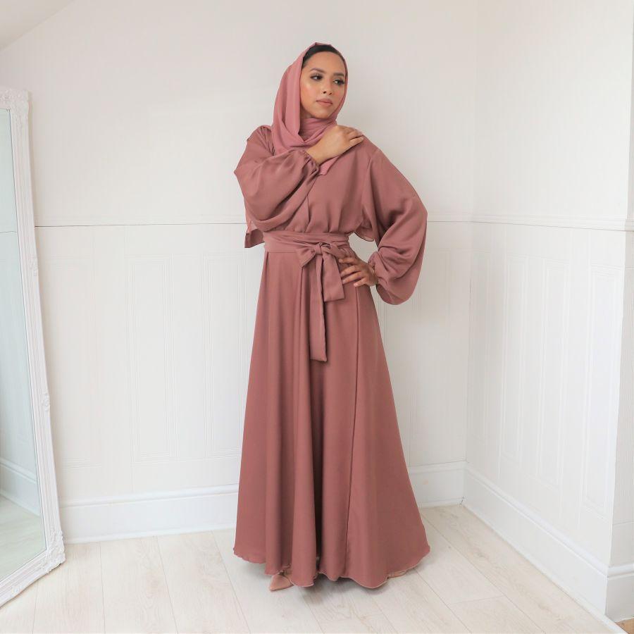 Amal wrap flare Nude Blush