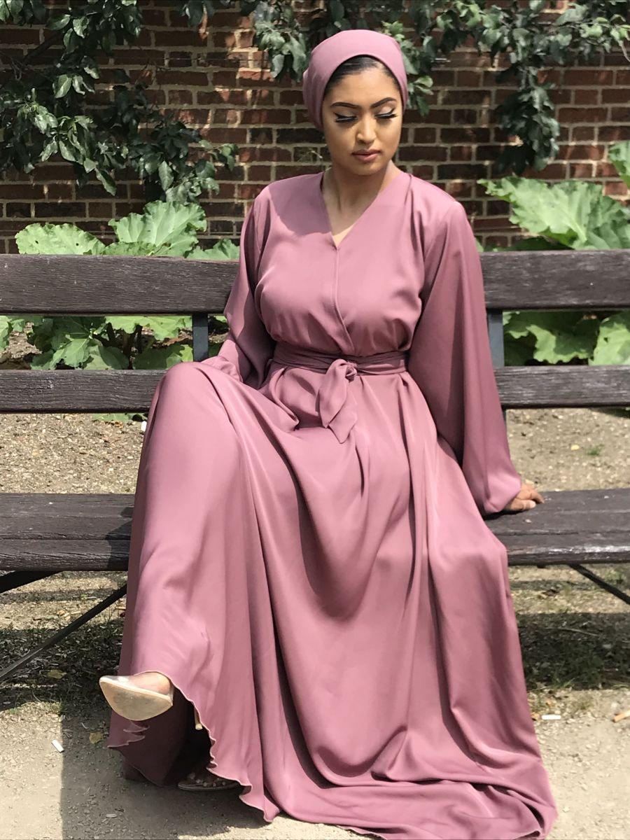Amal wrap flare Dusky Pink