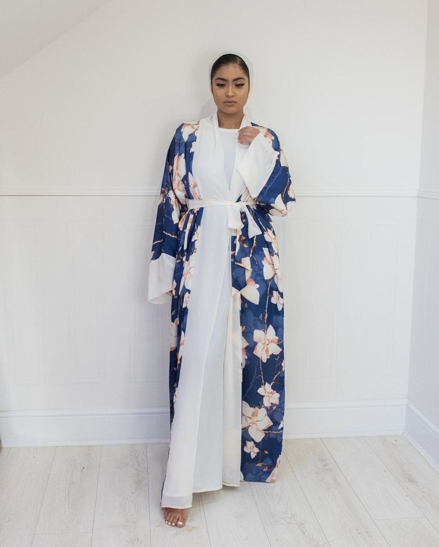 Orchid Navy Kimono