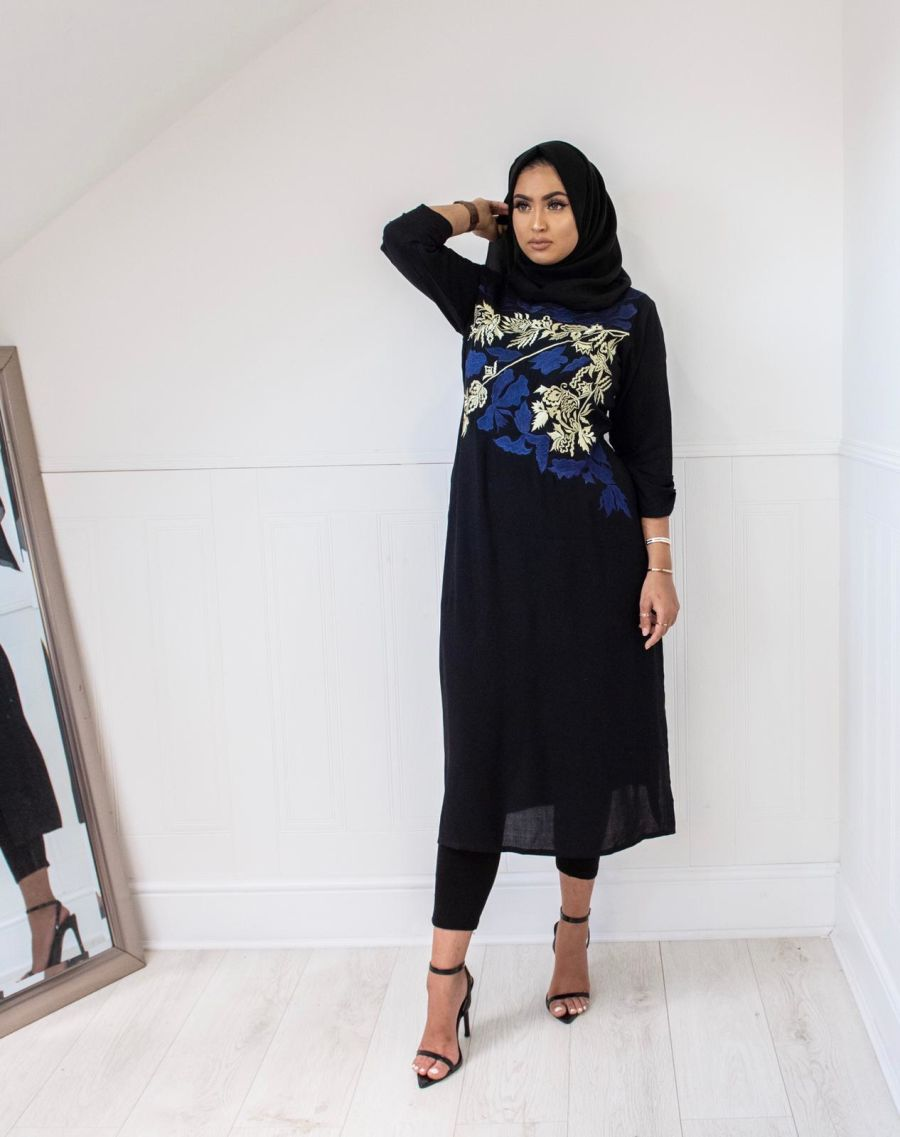 Midnight hues Kurta in Black