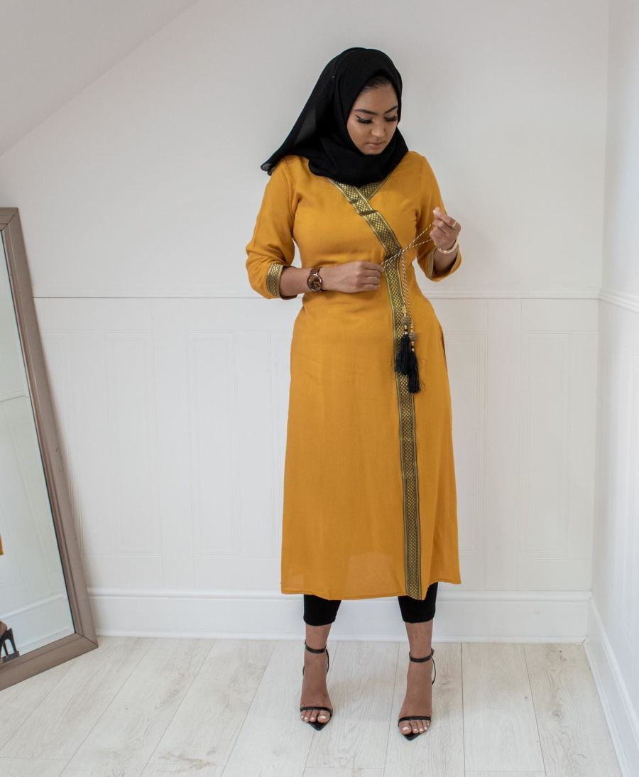 Regal Kurta in Mustard