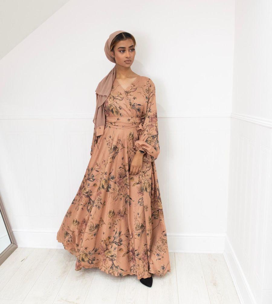 Amal Wrap Vintage Floral Nudes