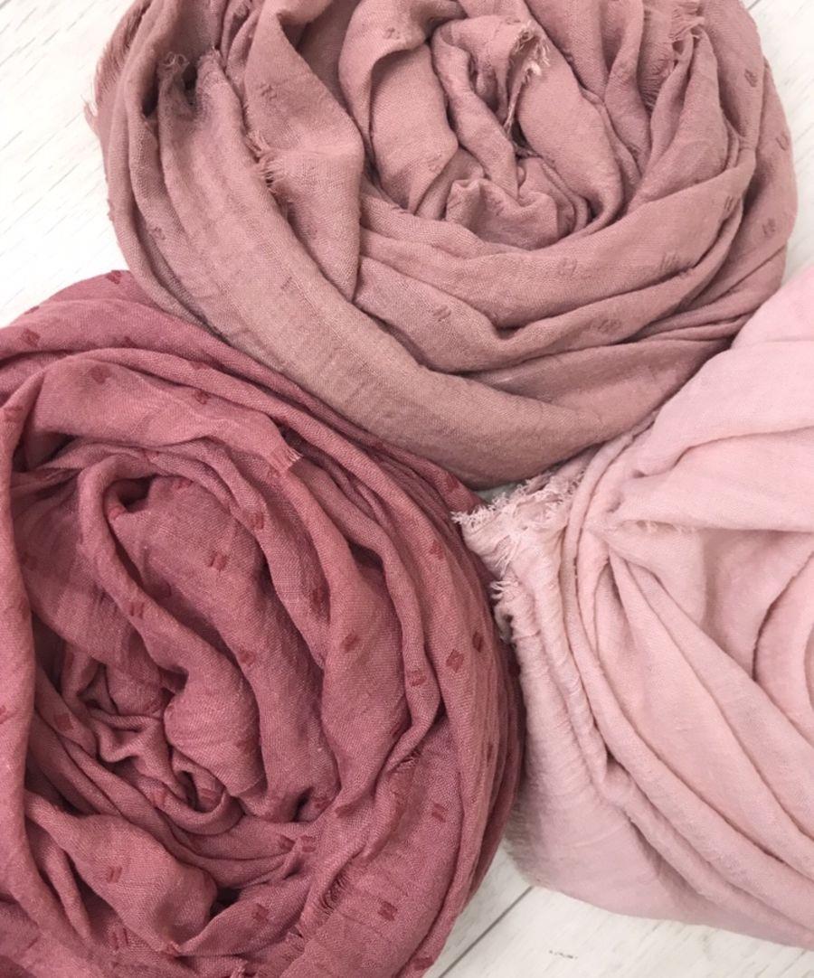 Textured jacquard cotton hijab